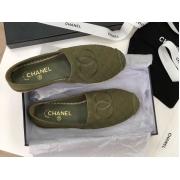 Женские эспадрильи Chanel (Шанель) Cruise летние текстиль с лого Green