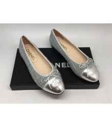 Балетки Chanel (Шанель) Cruise Silver