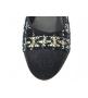 Туфли-лодочки женские Chanel (Шанель) Cruise твид каблук невысокий темные Blue