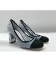Туфли-лодочки женские Chanel (Шанель) Cruise твид каблук высокий Blue