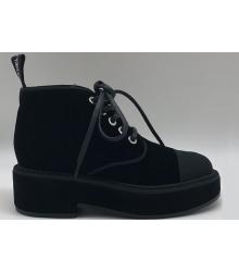 Ботинки женские Chanel (Шанель) Cruise замшевые Black
