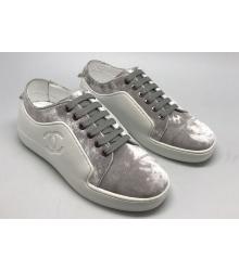 Женские кроссовки Chanel EX Sport (Шанель) White/Grey