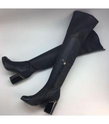 Ботфорты женские Chanel (Шанель) High Black