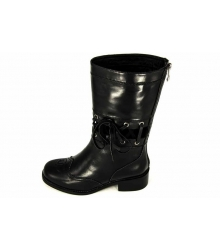 Сапоги женские Chanel (Шанель) High Black/Leather