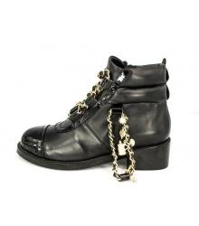 Ботинки Chanel (Шанель) High Black с браслетом