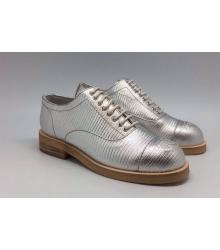 Ботинки Chanel (Шанель) High Full Silver