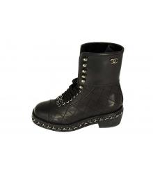 Ботинки Chanel (Шанель) High Light Black/Silver