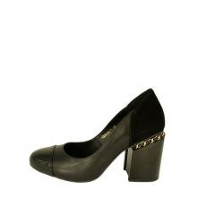 Туфли женские Chanel (Шанель) кожаные Black