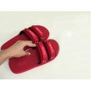 Шлепанцы женские Chanel (Шанель) летние комбинированные на липучках Red