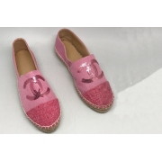 Эспадрильи женские Chanel (Шанель) летние текстиль Pink
