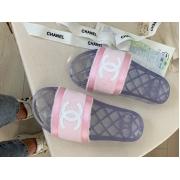 Шлепанцы женские Chanel (Шанель) летние текстиль Pink