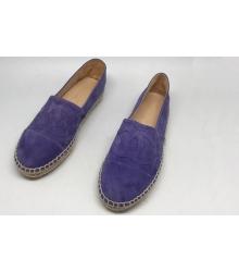 Эспадрильи женские Chanel (Шанель) летние замшевые Purple
