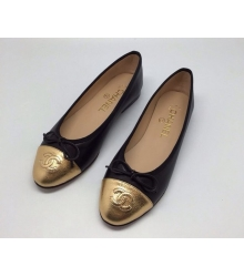 Балетки Chanel (Шанель) Low Black/Gold