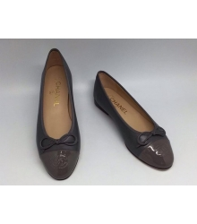 Балетки Chanel (Шанель) Low Dark Grey/Brown