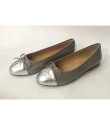 Балетки Chanel (Шанель) Low Grey/Silver