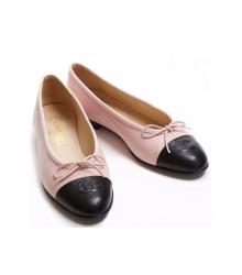 Балетки Chanel (Шанель) Low Pink/Black