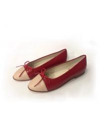 Балетки Chanel (Шанель) Low Red/Beige