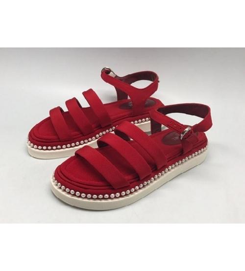 Сандалии женские Chanel (Шанель) New Red
