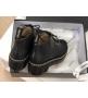 Женские ботинки Chanel (Шанель) осенние кожаные на толстой подошве Black