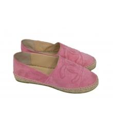 Эспадрильи Chanel (Шанель) Pink/Suede