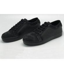 Женские кроссовки Chanel (Шанель) велюровые Black