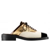 Ботинки женские Chanel (Шанель) Куба White/Gold/Black