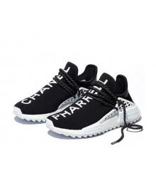 Женские кроссовки Adidas Originals X Chanel X (Шанель) Pharrell Human Race NMD TR без шнуровки Black
