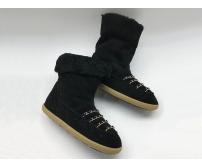 Женские сапоги угги Chanel (Шанель) зимние на меху Black