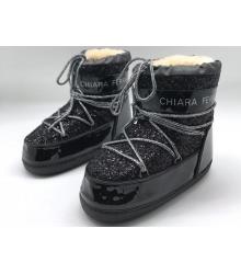 Сапоги луноходы женские Chiara Ferragni (Кьяра Ферраньи) Black
