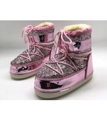 Сапоги луноходы женские Chiara Ferragni (Кьяра Ферраньи) Pink