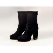 Женские ботильоны Christian Dior (Кристиан Диор) D-RISE замшевые каблук средней длины с принтом Black