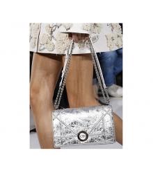 Сумка женская Christian Dior (Кристиан Диор) Silver