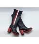 Женские сапоги Christian Dior (Кристиан Диор) DIORIDER кожаные высокие каблук 8,5 см Black