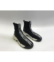 Женские кроссовки Christian Dior (Кристиан Диор) Fusion текстиль Black
