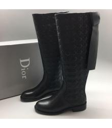 Женские сапоги Christian Dior (Кристиан Диор) High Black