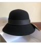 Женская шляпа Christian Dior (Кристиан Диор) J Adior кашемир с широкими полями Black