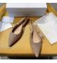 Женские балетки Christian Dior (Кристиан Диор) J`Dior с открытой пяткой каблук 0,5см со стразами Beige