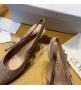 Женские туфли-слингбэки Christian Dior (Кристиан Диор)  J`Dior каблук 6,5см из стразов с открытой пяткой Beige