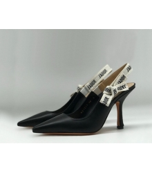 """Женские туфли Christian Dior (Кристиан Диор) """"J`Dior """" кожаные Black"""