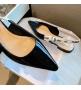 Женские балетки Christian Dior (Кристиан Диор) J`Dior кожаные с открытой пяткой каблук 0,5см Black