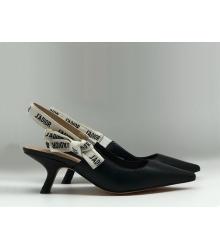 """Женские туфли Christian Dior (Кристиан Диор) """"J`Dior """"низкий каблук Black"""