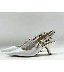 "Женские туфли Christian Dior (Кристиан Диор) ""J`Dior ""низкий каблук White"