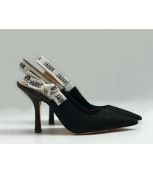 """Женские туфли Christian Dior (Кристиан Диор) """"J`Dior """" с открытой пяткой Black"""