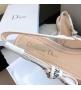 Женские балетки Christian Dior (Кристиан Диор) J`Dior текстиль с открытой пяткой каблук 0,5см Beige