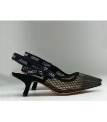"""Женские туфли Christian Dior (Кристиан Диор) """"J`Dior """" сетка Black"""
