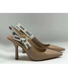 """Женские туфли Christian Dior (Кристиан Диор) """"J`Dior """"шпилька каблук с открытой пяткой Beige"""