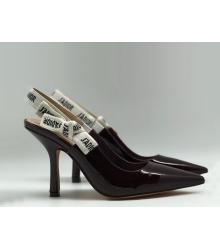 """Женские туфли Christian Dior (Кристиан Диор) """"J`Dior """"шпилька каблук с открытой пяткой Bordo"""
