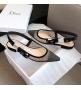 Балетки женские Christian Dior (Кристиан Диор) J`Dior текстиль летние каблук 0,5см Black