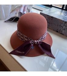 Женская шляпа Christian Dior (Кристиан Диор) кашемир с широкими полями Bordo