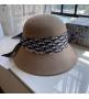 Женская шляпа Christian Dior (Кристиан Диор) кашемир с широкими полями Gray